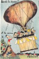 23 - CREUSE / Aubusson - Carte à Système - Ballon - Monte La Dessus Tu Verras - Aubusson