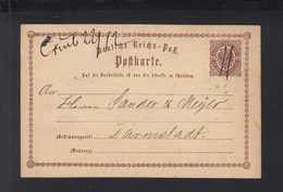 Dt. Reich GSK 1873 Caub Handschriftlich - Deutschland