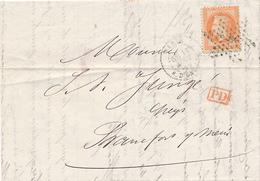 PARIS - 1869 , Letter To Frankfurt - 1863-1870 Napoléon III. Laure