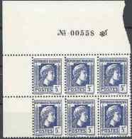 COQ ET MARIANNE D'ALGER N°645 BLOC DE 6 - NEUF ** LUXE GOMME D'ORIGINE - France