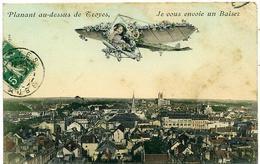 10 TROYES ++ Planant Au-dessus De Troyes, Je Vous Envoie Un Baiser ++ - Troyes