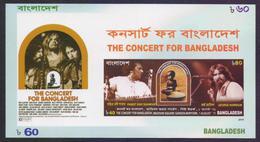 BANGLADESH 2015 - The Concert For Bangladesh, Madison Square Garden New York On August 1971, MNH Imperf Miniature Sheet - Bangladesh