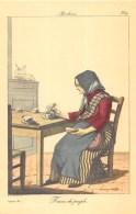 """12 Reproductions De """"Gravures D'époque """" (Personnages Du Folklore Régional Français Et Métiers Anciens) Voir Scans - Old Paper"""