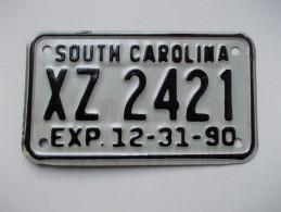 Plaque D´immatriculation Moto - USA - Etat De La Caroline Du Sud - - Kennzeichen & Nummernschilder