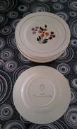 Lot De 11 Assiettes En Porcelaine CERANORD SAINT AMAND / St Amand ALMA Rare Peint à La Main