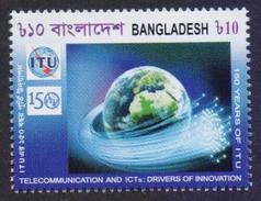 BANGLADESH 2015 MNH - 150 Years Of ITU, Telecommunication And Innovation, Globe, Space - Space