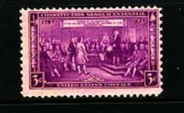 UNITED STATES/USA - 1937  CONSTITUTION  SESQUICENTENNIAL  MINT NH