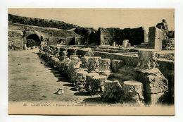 CARTHAGE - Ruines Du Theatre Romain - Les Chapiteaux Et La Scene. - Tunisia