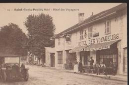 CPA:Saint-Genis-Pouilly:Hôtel Des Voyageurs - France
