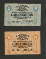 ITALIA - CASSA VENETA Dei PRESTITI- BUONO Di CASSA Da 5 & 10 CENTESIMI ( 1918 ) - [ 4] Emissioni Provvisorie