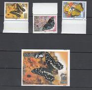 Iraq 2006,3V+block,butterflies,vlinders,schmetterlinge,papillons,mariposas,farfalle,MNH/Postfris(L2891) - Papillons