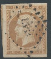 Lot N°33269   Variété/n°13A, Oblit 1554 L'ISLE-LE-SEREIN (83), Ind 7 ???, Tache Blanche Embriquement NORD OUEST - 1853-1860 Napoleon III