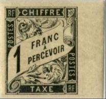 !!! TAXE N°12 BORD DE FEUILLE NEUVE CHARNIERE TRES LEGERE. SUPERBE. - Postage Due