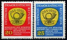 DDR - Michel 686 / 687 - ** Postfrisch (A) - 20-25Pf  Postministerkonferenz - [6] République Démocratique