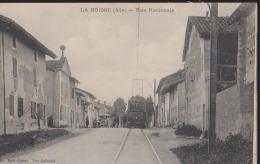CPA:La Boisse:Rue Nationale:Tramway - France