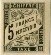 !!! TAXE N°14 BORD DE FEUILLE NEUVE CHARNIERE LEGERE. SIGNEE CALVES. SUPERBE - Impuestos