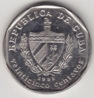 @Y@    Cuba   25 Centavos  1998        (4292) - Cuba