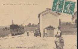 CPA:Hauteville:La Gare:Départ Du Train - Hauteville-Lompnes