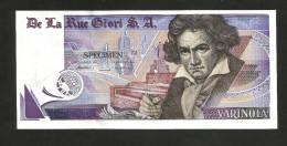 TEST NOTE - THOMAS De La RUE GIORI S.A. - VARINOTA - SPECIMEN - PROGETTO - PROJECT/ L. Van Beethoven - Specimen