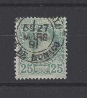 MONACO . YT 6 Obl Prince Charles III 1885 - Monaco