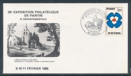 1985 Enveloppe 25è Exposition Philatélique De Pantin - Aushilfsstempel