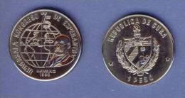(EM) Esperanto 1 Cuban Peso Coin From 1990 / Kubo Monero Pri Esperanto De 1990 - Cuba