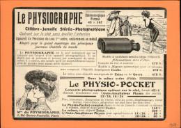 JUMELLES - Publicité Issue D´une Revue De 1907 Et Collée Sur Carton - Lunettes - Optique - Pysiographe - Publicités