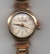 Montre Dame Suisse INTEGRAL Années 5O  Mécanique Or (  Poinçons Tête D'aigle Sur Le Fond Et Sur La Montre ) - Watches: Jewels