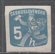 Czechoslovakia 1945, Scott #P27 Newspaper Delivery Boy (M) - Timbres Pour Journaux