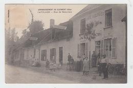 60 - CATILLON Par CLERMONT / RUE DE BEAUVAIS - CAFE BOURBIER - Clermont