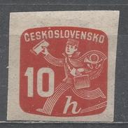 Czechoslovakia 1945, Scott #P28 Newspaper Delivery Boy (M) - Timbres Pour Journaux