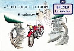 Grézieu-la-Varenne (69) - 4è Foire Toutes Collections  (Dessin De Jean-Jacques Raymond) (Recto-Verso) - Bourses & Salons De Collections