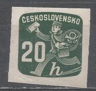 Czechoslovakia 1945, Scott #P30 Newspaper Delivery Boy (M) - Timbres Pour Journaux