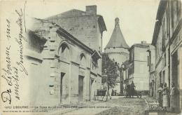 33-2185 CPA  LIBOURNE  La Tour Du Grand Port  Coté Intérieur  ANIMATION  Belle Carte - Libourne