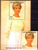 Porträt Diana Mit Perlen 1997 Niger A1425+ Block B 110 ** 14€ Lady Di Hb Blocs M/s Flower Princess Of Wales Sheets Bf UK