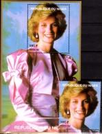 Porträt Diana In Seide 1997 Niger A1426+Block C 110 ** 14€ Lady Di Hojas Blocs M/s Flower Princess Of Wales Sheets Bf UK