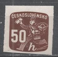 Czechoslovakia 1945, Scott #P34 Newspaper Delivery Boy (M) - Timbres Pour Journaux