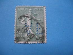 Perforé  Perfin  Référence Ancoper France  :   AF73 - Perfin