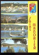 CPM 83 Souvenir De SAINT MANDRIER Sur MER Multi Vues ( Toilée ) - Saint-Mandrier-sur-Mer