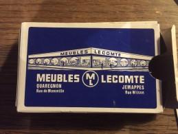 Jeu De 52 Cartes + 2 Jokers : Meubles Lecomte Jemappes Quaregnon - Speelkaarten