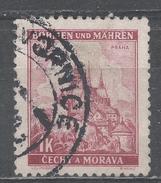 Bohemia And Moravia 1939. Scott #30 (U) Cathedral At Prague - Bohême & Moravie