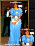 Porträt Diana Mit Tasche 1997 Niger A1427+ Block D 110 ** 14€ Lady Di Hb Blocs M/s Flower Princess Of Wales Sheets Bf UK