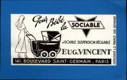 ENFANTS - LANDAUS - Landau - Publicité Issue D'une Revue De 1934 Et Collée Sur Feuillet - Nourrice - Publicités