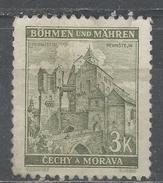 Bohemia And Moravia 1941, Scott #53C Pernstein Castle (U) - Bohême & Moravie