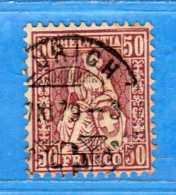 SUISSE°-1879 - ZUM.43a / MI.35 .  2 Scan. Cat. Zum. 2016  CHF.100,00. PAPIER BLANC   Vedi Descrizione - 1862-1881 Sitted Helvetia (perforates)
