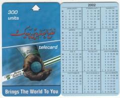 SUDAN - Calendar 2002, Sudatel Telecard 300 Units, Sample(no Chip, No CN) - Sudan
