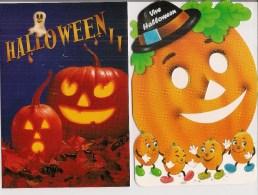 Lot De 2 CPM Double  -  Fêtes   HALLOWEEN - Halloween