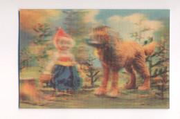 USSR 3D Stereo Stereoscope Calendar Soviet Cartoon Animated Film Little Red Riding Hood And Wolf - Calendari