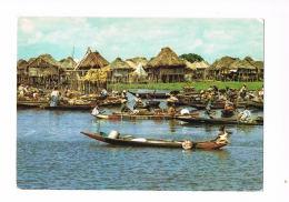 BENIN -Cité Lacustre De GANVIE  - Cpsm Avec Beau Timbre Neuf Au Verso - Scans Recto Verso- Paypal Sans Frais - Benin