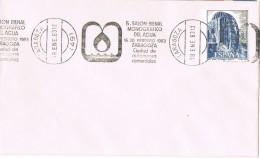 20460. Carta ZARAGOZA 183. Rodillo Especial Salon Monografico Del AGUA - 1981-90 Cartas
